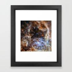 Explore - Space Framed Art Print