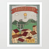Fantastic City Art Print