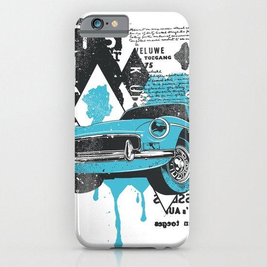 Blue Car iPhone & iPod Case