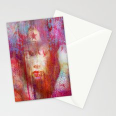 wonder abstract woman Stationery Cards