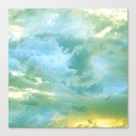 Solo Flight: Aqua Variat… Canvas Print