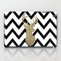 Glitter Deer Silhouette with Chevron iPad Case