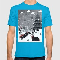 Snow Carnival Mens Fitted Tee Teal SMALL