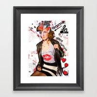 LA FEMME DANS L'AMOUR //… Framed Art Print