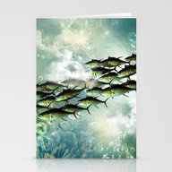 Fish Shoal Stationery Cards