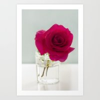 A simple Rose Art Print