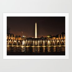 Washington Monument From WWII Memorial Art Print