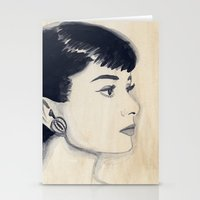 Audrey (watercolor) Stationery Cards