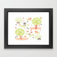 Woodland babies Framed Art Print