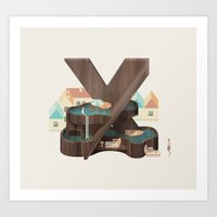 Resort Type - Letter X Art Print