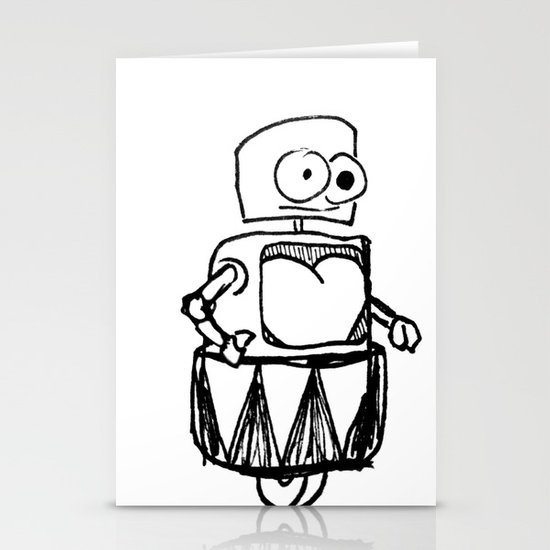 Roller Robot Stationery Card
