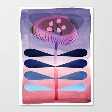 Folky Little Flower Canvas Print