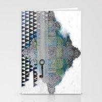 cross Stationery Cards featuring Cross by oxana zaika