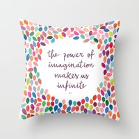 Imagination [Collaboration with Garima Dhawan] Throw Pillow