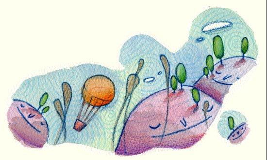 sleeping hills Art Print