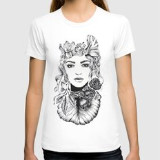 Nature Woman  Womens Fitted Tee White SMALL