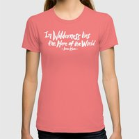 Wilderness Hope x John Muir Womens Fitted Tee Pomegranate SMALL