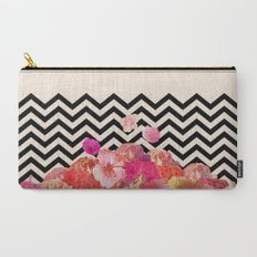Chevron Flora II Carry-All Pouch