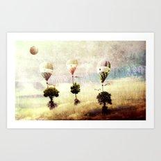 tree - air baloon Art Print