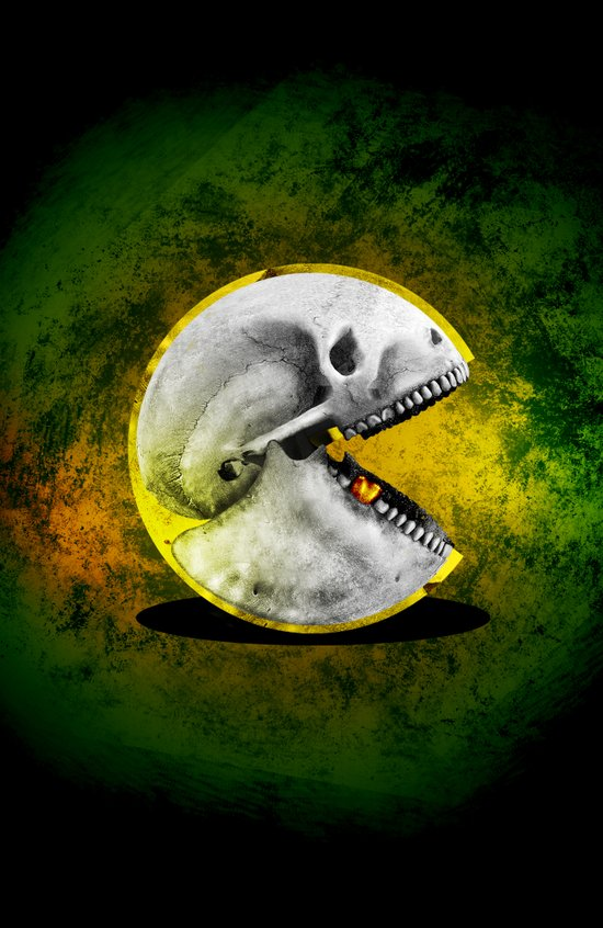 Skull Pacman Art Print