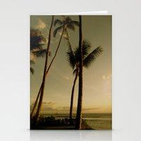 Barcos de Maui Stationery Cards