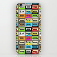 Retro 80s Cassette Tape Pattern iPhone & iPod Skin