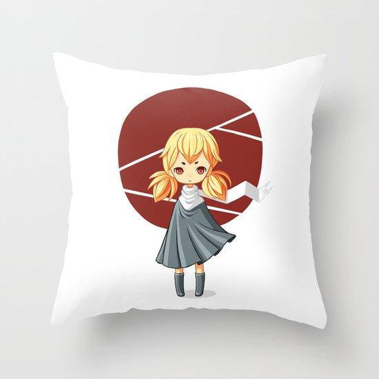 Tokyo Girl Throw Pillow