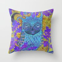 Oak & Owl Throw Pillow