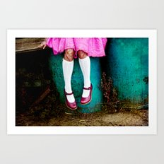 I am so girly Art Print