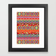 India Style Pattern (Mul… Framed Art Print