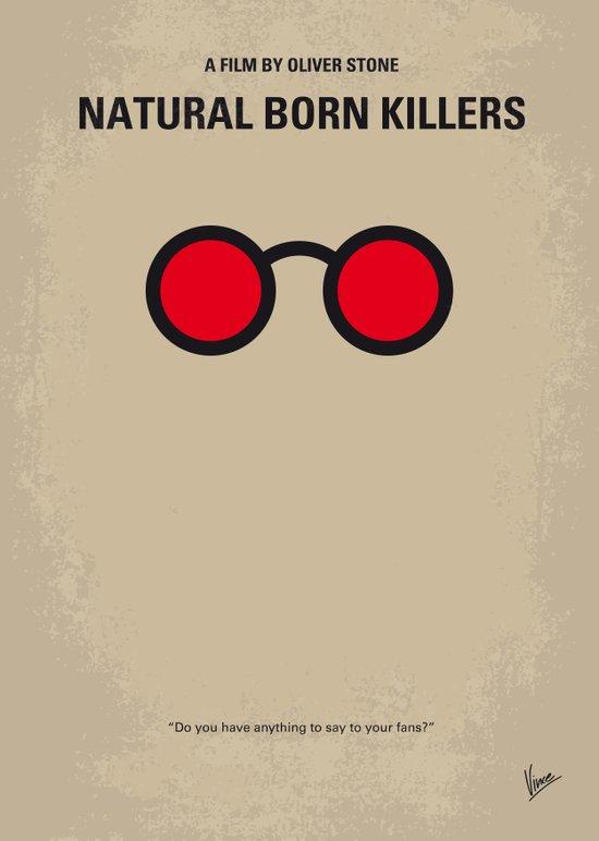 No139 My Natural Born Killers minimal movie poster Canvas Print