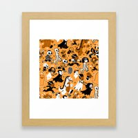 Alt Monster March (Orange) Framed Art Print