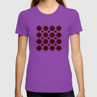 Goth flower pattern Womens Fitted Tee Ultraviolet SMALL