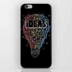 Ideas need light (black version) iPhone & iPod Skin