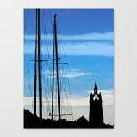Masts and Tower Canvas Print