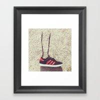 Lace Leg Framed Art Print