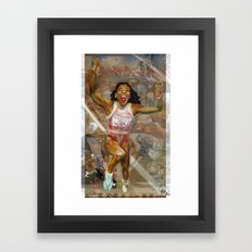 AMERICA ON HER BACK Framed Art Print