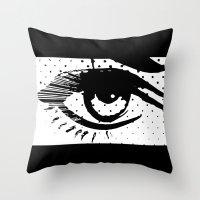 POP eye Throw Pillow