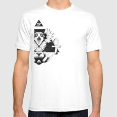 Eye of Infinity Mens Fitted Tee SMALL White