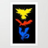 Legendary Bird Splatter Art Print