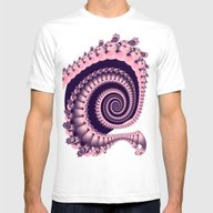 Spiral In Pink And Purpl… Mens Fitted Tee White SMALL