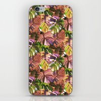 Welcome to the Jungle Palm Aubergine iPhone & iPod Skin