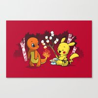 Toastymon Canvas Print
