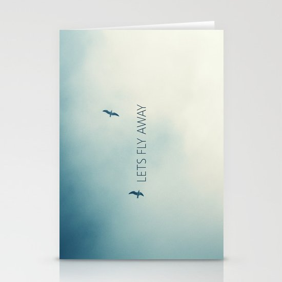 LETS FLY AWAY Stationery Card