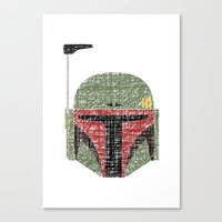 Lines of Boba Fett Canvas Print
