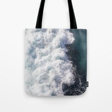 sea - midnight blue wave Tote Bag