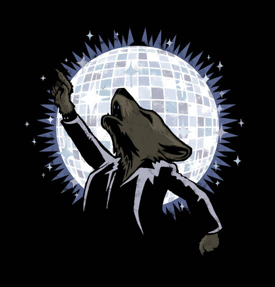 Howling at the Disco Moon Art Print