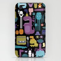 iPhone 3Gs & iPhone 3G Cases featuring MONSTERS by Piktorama