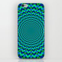 Pulse in Blue and Green iPhone & iPod Skin