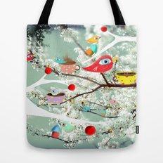 Vintage Whimsical Christmas Tote Bag